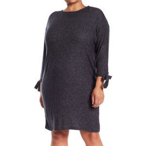 Collection by Bobeau Heathered Charcoal Dress